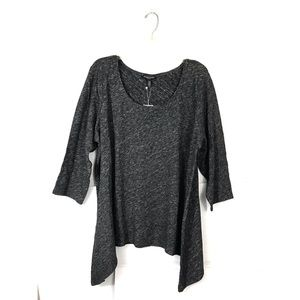 Eileen Fisher Charcoal Gray Tunic Top